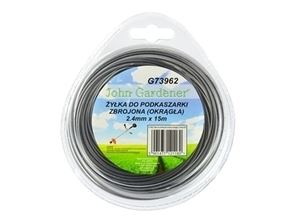 Picture of Coarda de taiere pentru masina de tuns iarba, rotunda, din plastic otelit, 2.4mm x 15m