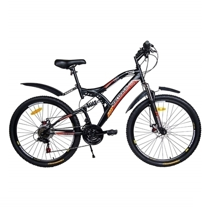 Picture of Bicicleta MTB MalTrack Target Red cu 18 Viteze, Amortizor, Roti 26 Inch, Mountain Bike