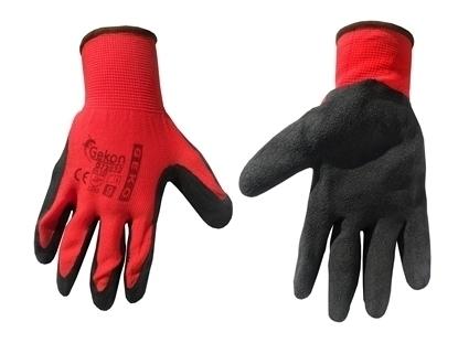 Picture of Mănuși de protecție GEKO, mărimea 9, Latex roșu, G73532