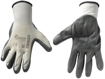 Picture of Mănuși de protecție GEKO, mărimea 10, alb-gri, G73523