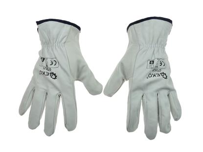 Picture of Mănuși de protecție din piele, mărimea 9, Geko G73525