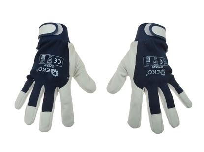 Picture of Mănuși din piele pentru protecție, mărimea 9, Geko G73528