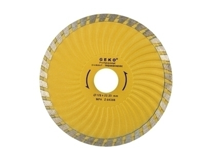 Picture of Disc diamantat 125mm turbo plus, GEKO PROFI, G00271