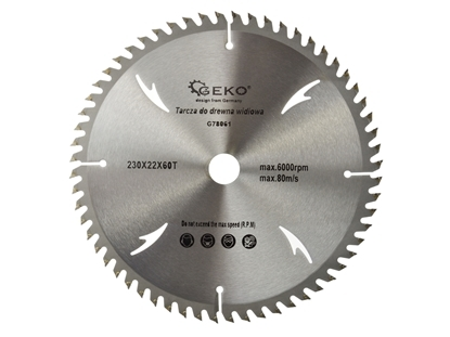 Picture of Disc pentu lemn 230x22x60T, Geko G78061