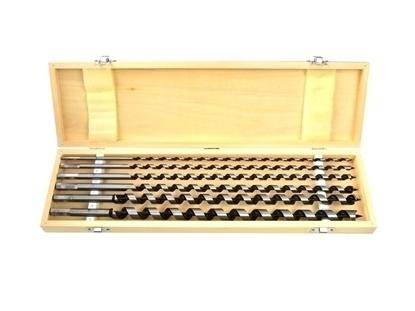 Picture of Set burghie elicoidale pentru lemn Geko, 6-18 / 460mm, 6 piese, cutie lemn, G38121