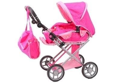 Picture of Carucior de jucarie cu geanta, MalPlay 3F, pentru copii, 66 cm, roz