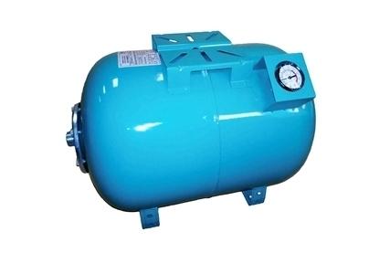 Picture of Rezervor orizontal Omnigena pentru hidrofor, capacitate 50 litri, manometru, STH50M