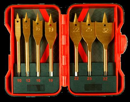 Picture of Set burghie pentru lemn plate Ø10-32mm 7 piese, Raider 157794