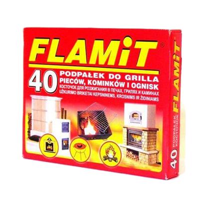 Picture of Bax 24 cutii Flamit, carbuni pentru aprinderea focului din cuptoare, seminee sau gratare