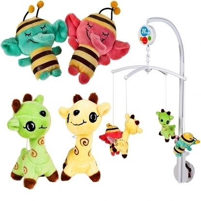 Picture of Carusel cu animale de plus, Malplay 100989