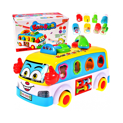 Picture of Autobuz interactiv cu telefon si cuburi, Malplay 100055